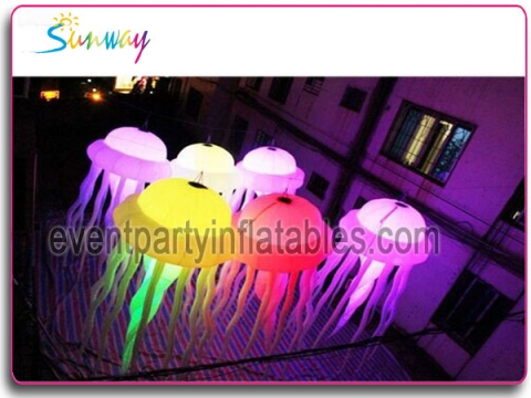 Inflatable LED jellyfish