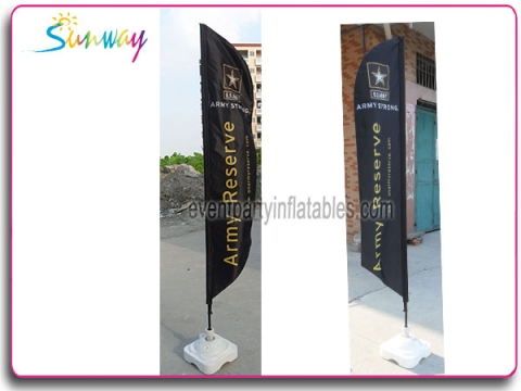 Dye sublimation printing flag